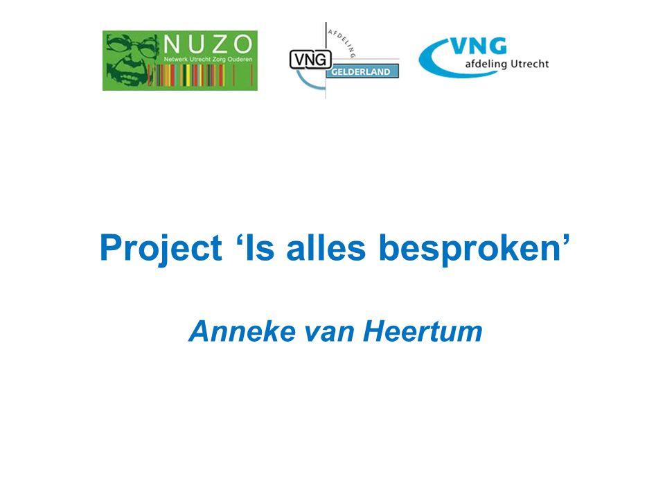 Project 'Is alles besproken' Anneke van Heertum