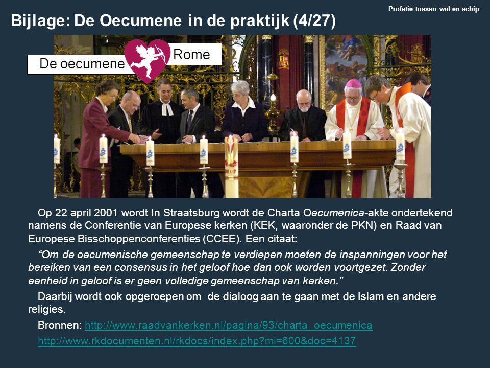 Op 22 april 2001 wordt In Straatsburg wordt de Charta Oecumenica-akte ondertekend namens de Conferentie van Europese kerken (KEK, waaronder de PKN) en
