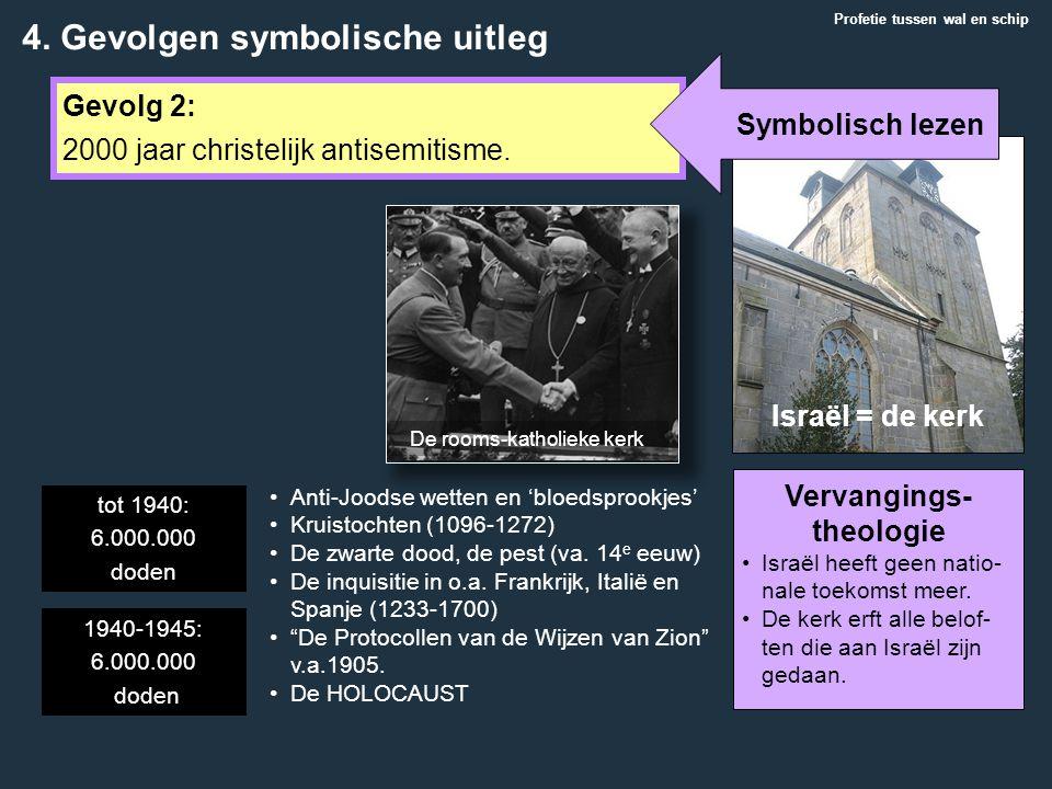 Profetie tussen wal en schip Gevolg 2: 2000 jaar christelijk antisemitisme. Anti-Joodse wetten en 'bloedsprookjes' Kruistochten (1096-1272) De zwarte