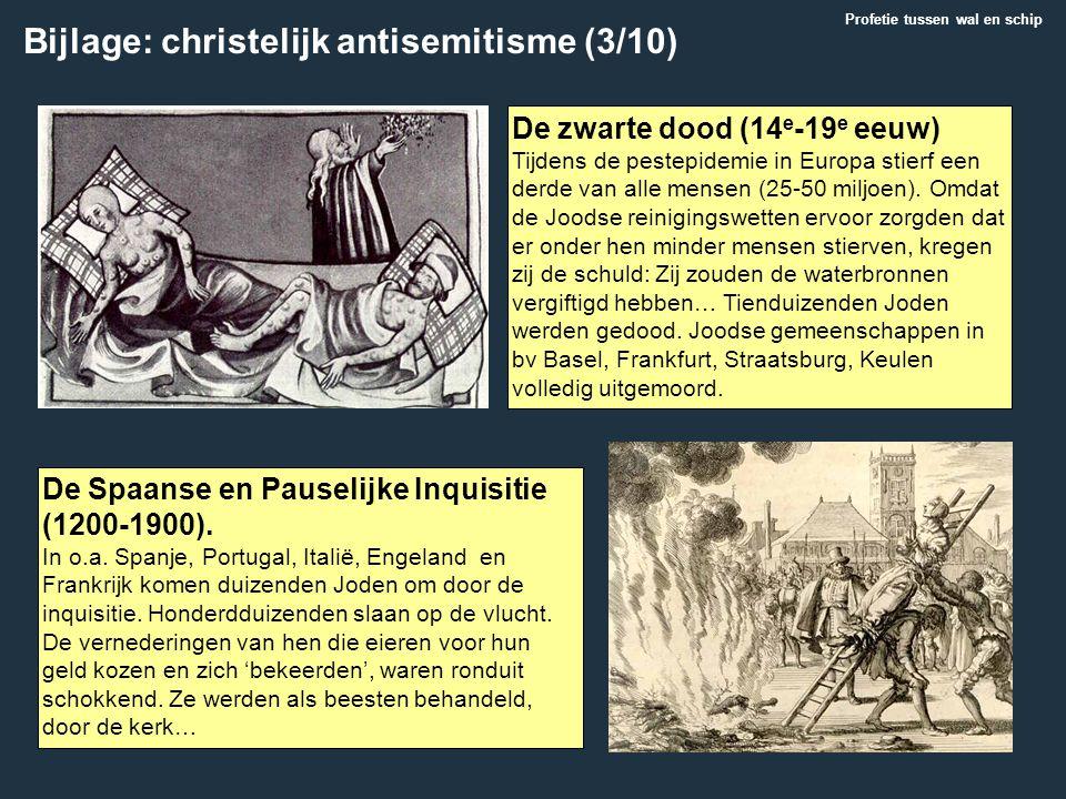 De zwarte dood (14 e -19 e eeuw) Tijdens de pestepidemie in Europa stierf een derde van alle mensen (25-50 miljoen). Omdat de Joodse reinigingswetten