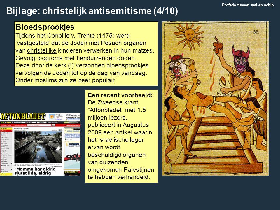 Bloedsprookjes Tijdens het Concilie v. Trente (1475) werd 'vastgesteld' dat de Joden met Pesach organen van christelijke kinderen verwerken in hun mat