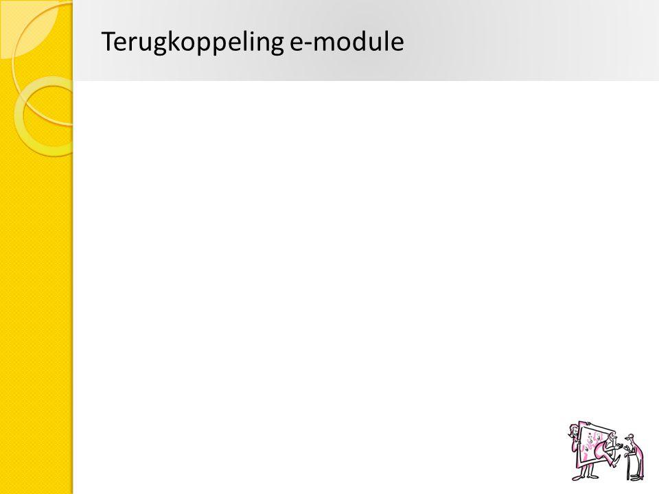 Terugkoppeling e-module