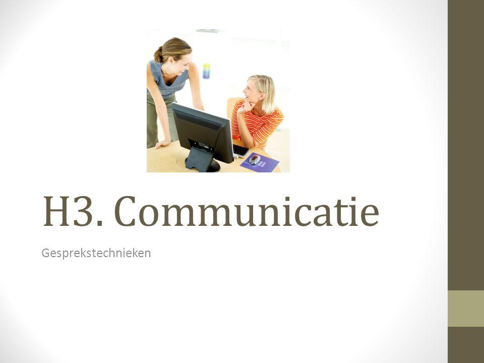 Gespreksvormen Informatief gesprek: gesprek waarin de ene persoon informatie geeft aan de andere persoon.