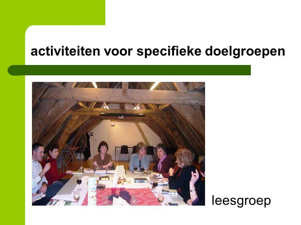 activiteiten voor specifieke doelgroepen leesgroep
