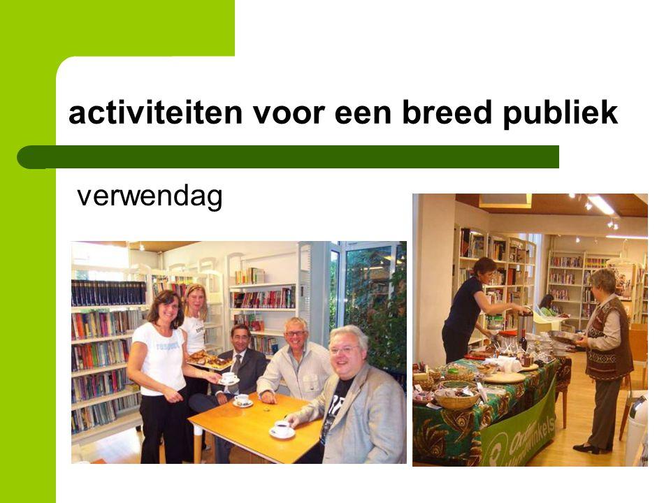 activiteiten voor een breed publiek verwendag