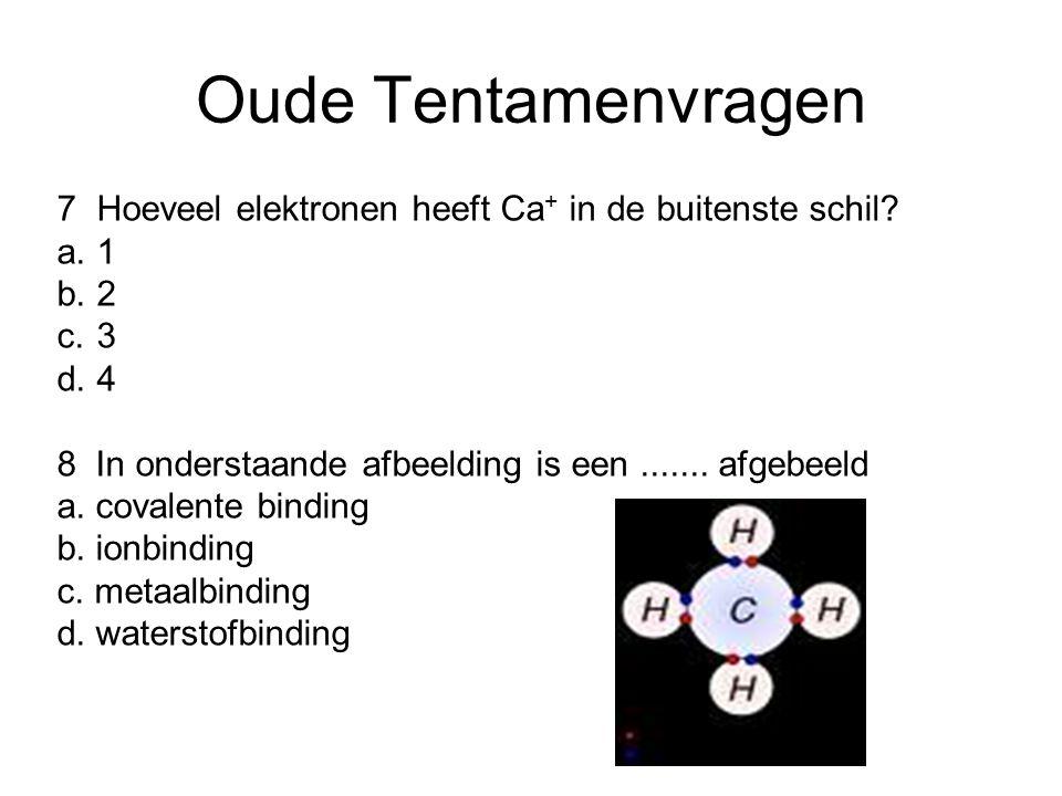 Oude Tentamenvragen 7Hoeveel elektronen heeft Ca + in de buitenste schil.