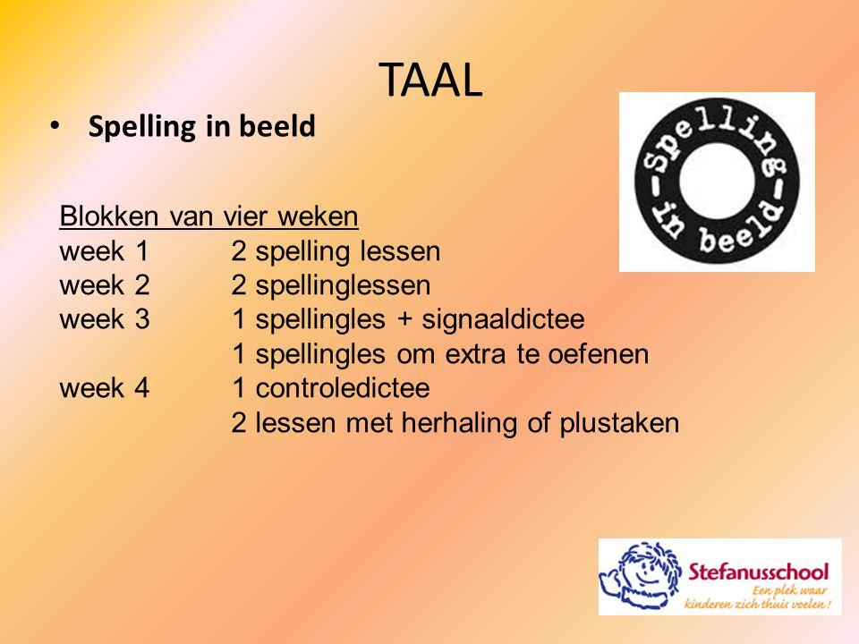 Spelling in beeld TAAL Blokken van vier weken week 12 spelling lessen week 22 spellinglessen week 31 spellingles + signaaldictee 1 spellingles om extr