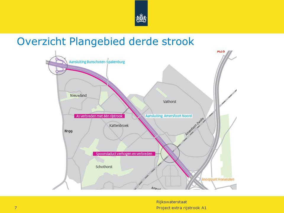 Rijkswaterstaat 8Project extra rijstrook A1 Wegverbreding Tracéwet procedure.