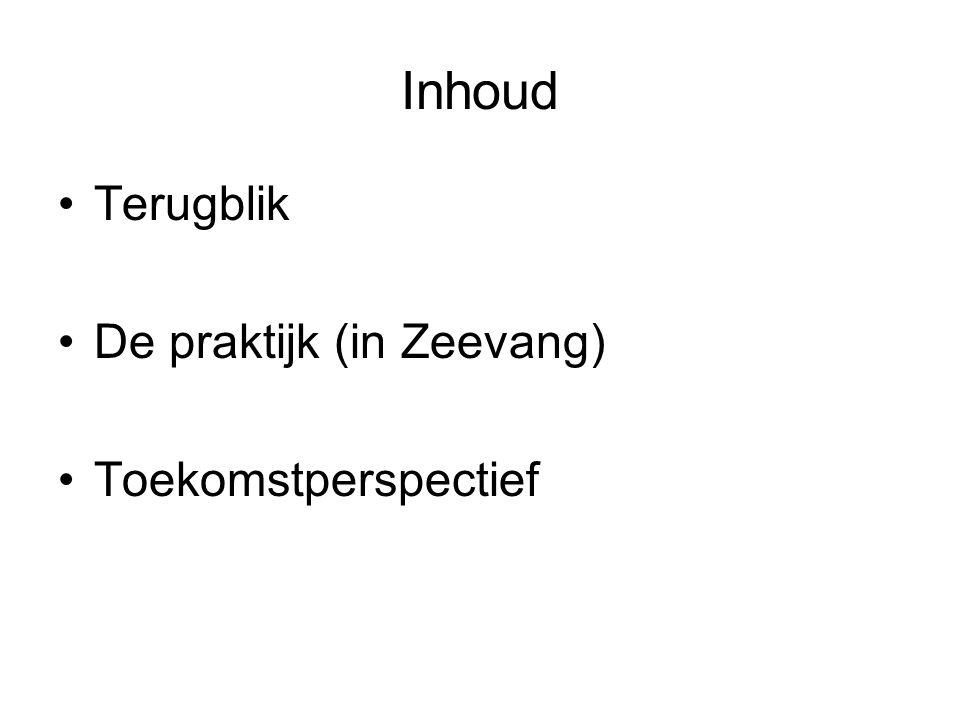 Inhoud Terugblik De praktijk (in Zeevang) Toekomstperspectief