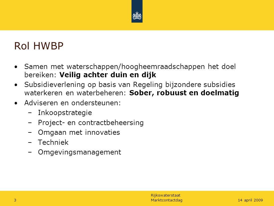 Rijkswaterstaat Projecten in de tijd Marktcontactdag414 april 2009