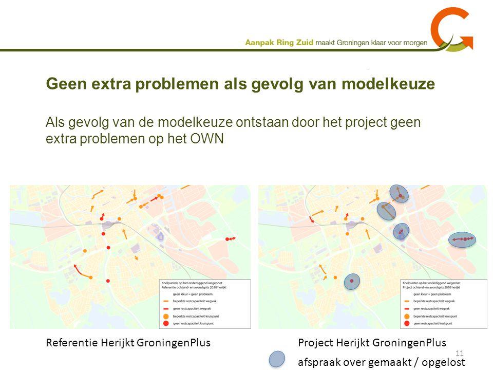 Geen extra problemen als gevolg van modelkeuze 11 Als gevolg van de modelkeuze ontstaan door het project geen extra problemen op het OWN Referentie He