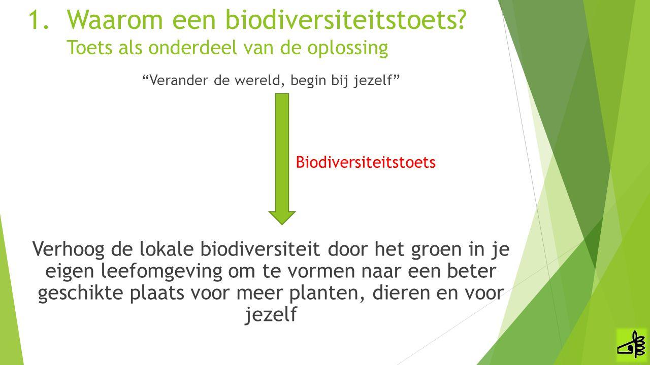 """""""Verander de wereld, begin bij jezelf"""" Verhoog de lokale biodiversiteit door het groen in je eigen leefomgeving om te vormen naar een beter geschikte"""
