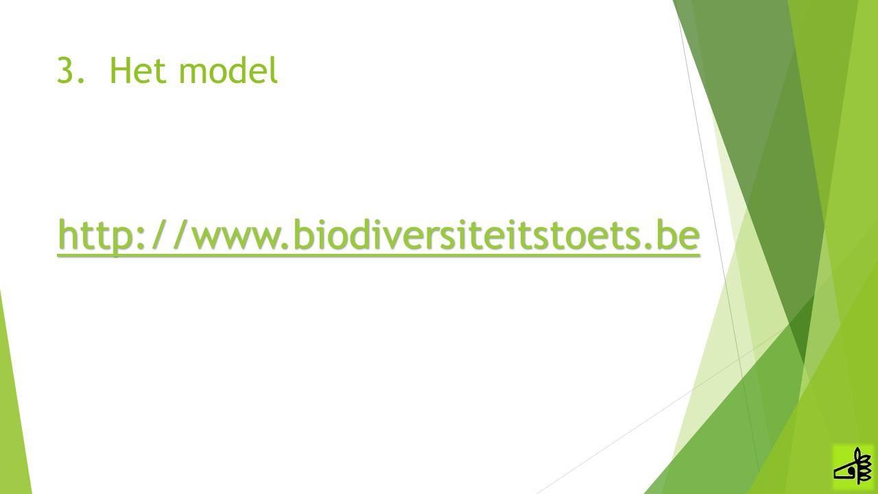 3.Het model http://www.biodiversiteitstoets.be