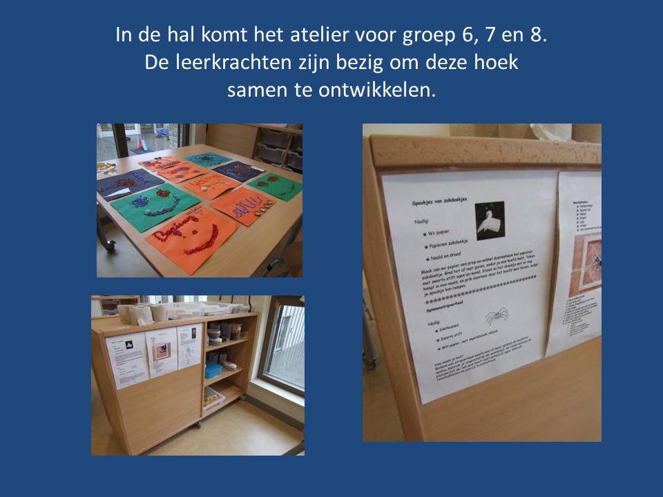 In de hal komt het atelier voor groep 6, 7 en 8.
