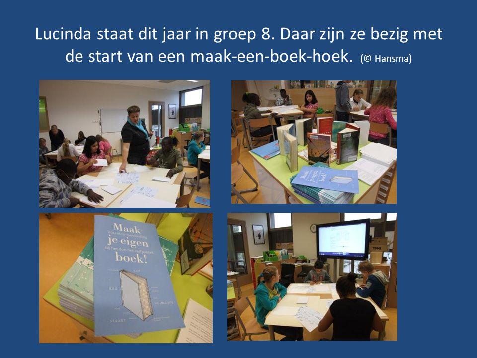 Lucinda staat dit jaar in groep 8. Daar zijn ze bezig met de start van een maak-een-boek-hoek.