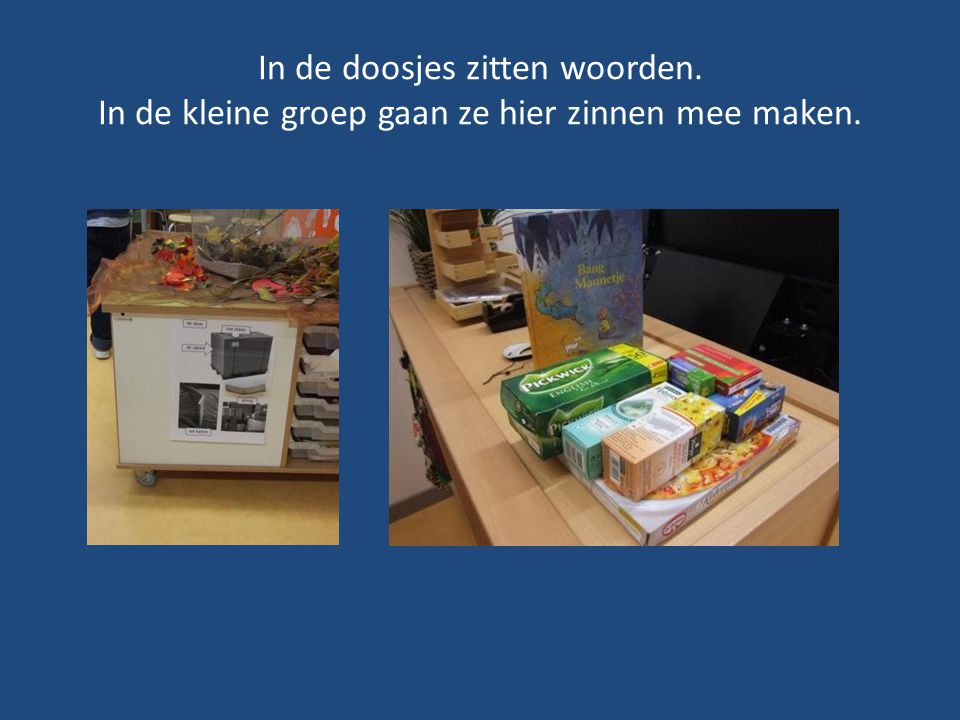 Linde (LIO), Ferit, Ynske en Alex presenteren een mindmap als opstap naar een nieuw werkplan.