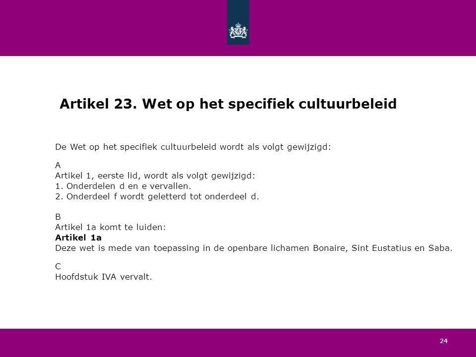 24 Artikel 23.