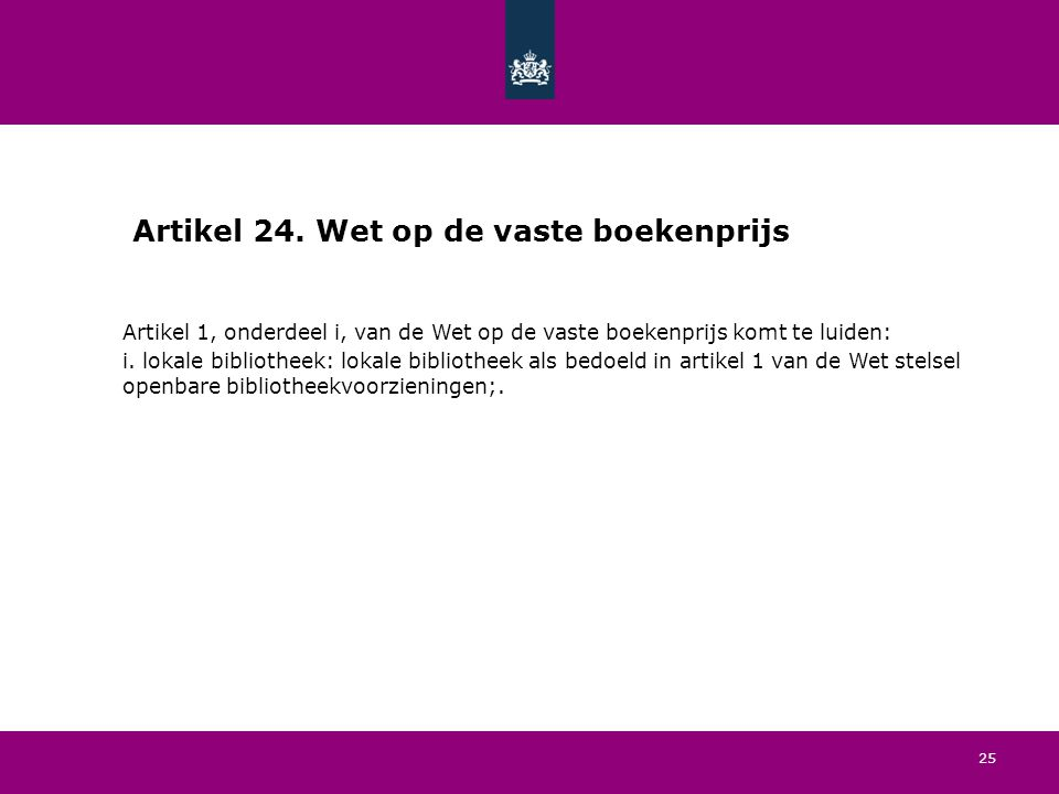 25 Artikel 24.