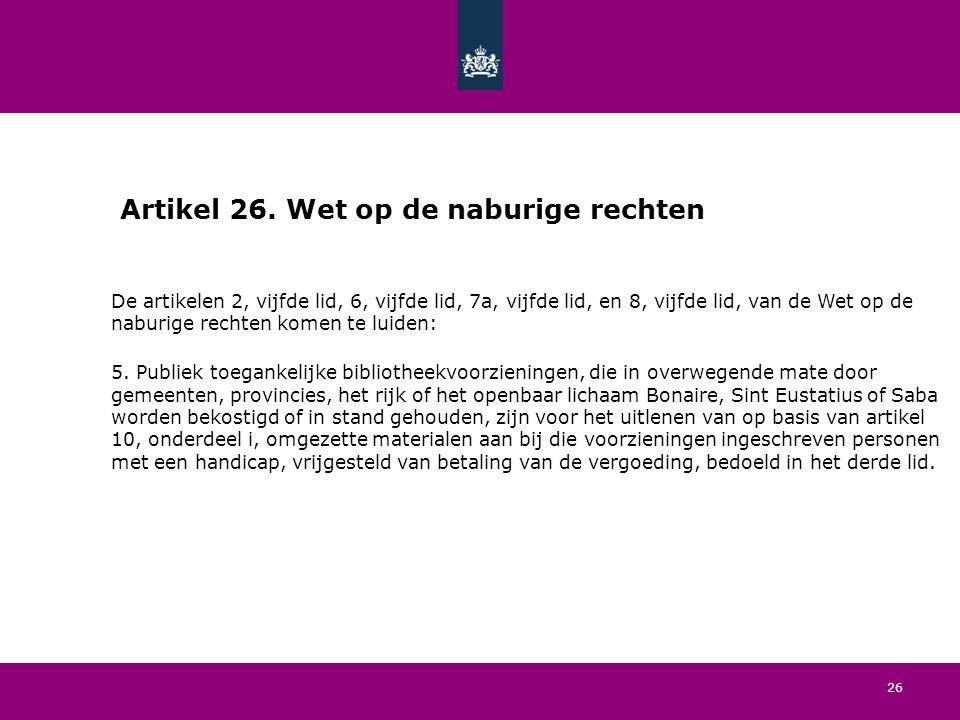 26 Artikel 26.