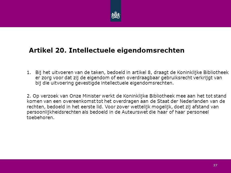 27 Artikel 20.
