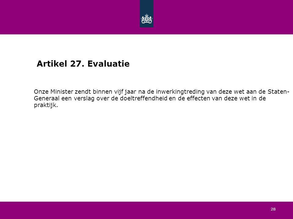 28 Artikel 27.
