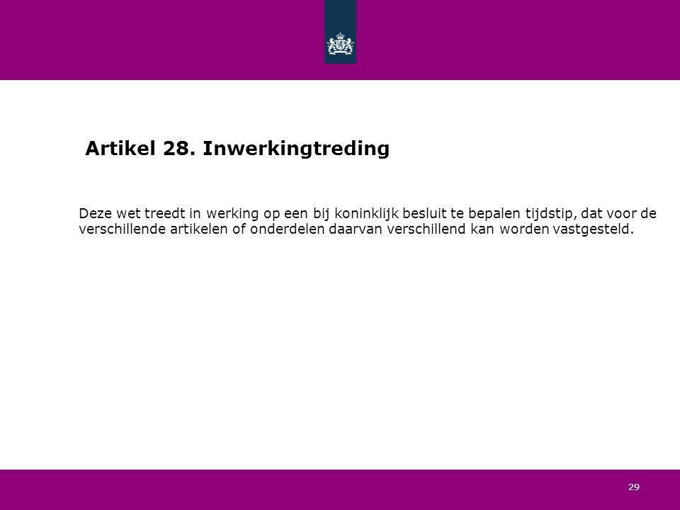 29 Artikel 28.