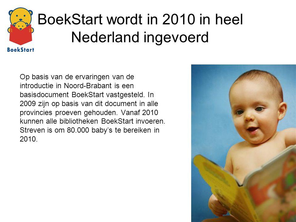 BoekStart wordt in 2010 in heel Nederland ingevoerd Op basis van de ervaringen van de introductie in Noord-Brabant is een basisdocument BoekStart vast