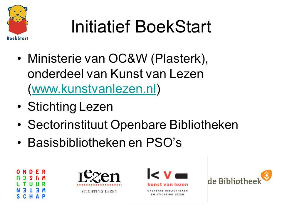 Initiatief BoekStart Ministerie van OC&W (Plasterk), onderdeel van Kunst van Lezen (www.kunstvanlezen.nl)www.kunstvanlezen.nl Stichting Lezen Sectorin