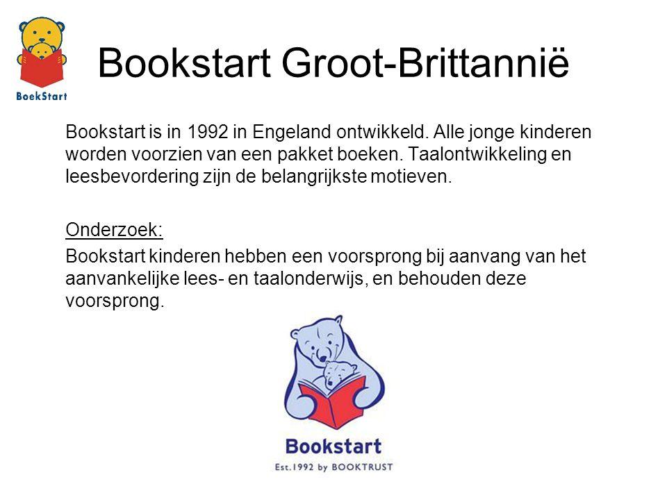 Bookstart is in 1992 in Engeland ontwikkeld. Alle jonge kinderen worden voorzien van een pakket boeken. Taalontwikkeling en leesbevordering zijn de be