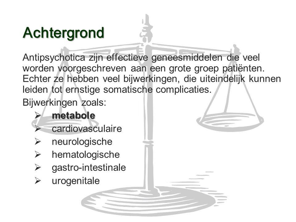 Antipsychotica zijn effectieve geneesmiddelen die veel worden voorgeschreven aan een grote groep patiënten. Echter ze hebben veel bijwerkingen, die ui