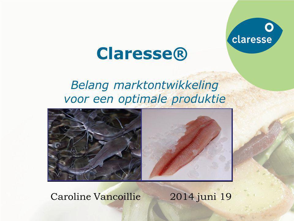 Claresse Claresse® Belang marktontwikkeling voor een optimale produktie Caroline Vancoillie2014 juni 19