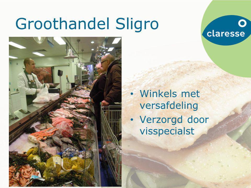 Groothandel Sligro Winkels met versafdeling Verzorgd door visspecialst