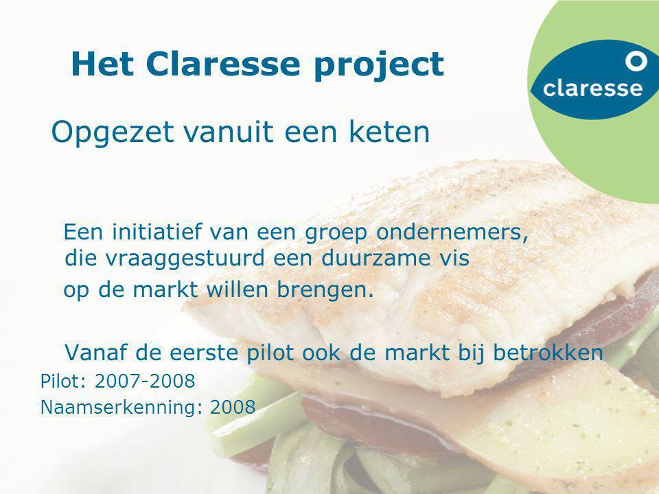 Het Claresse project Een initiatief van een groep ondernemers, die vraaggestuurd een duurzame vis op de markt willen brengen.