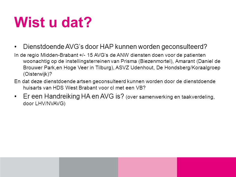 Wist u dat.Dienstdoende AVG's door HAP kunnen worden geconsulteerd.