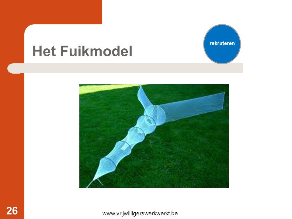 Het Fuikmodel www.vrijwilligerswerkwerkt.be 26 rekruteren