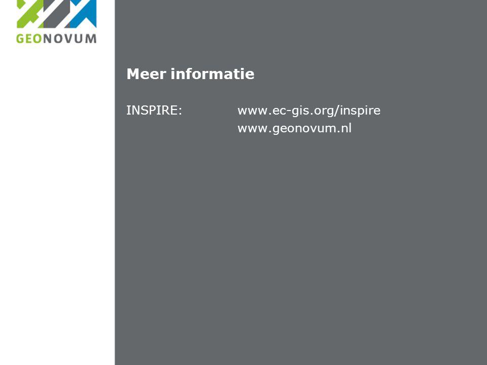 Meer informatie INSPIRE:www.ec-gis.org/inspire www.geonovum.nl