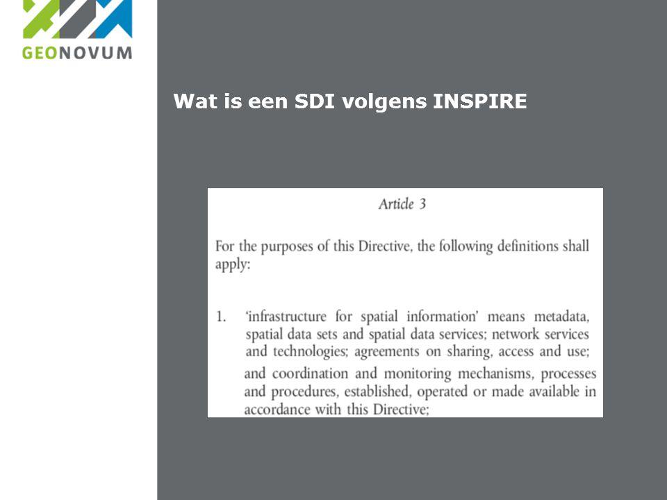 Wat is een SDI volgens INSPIRE