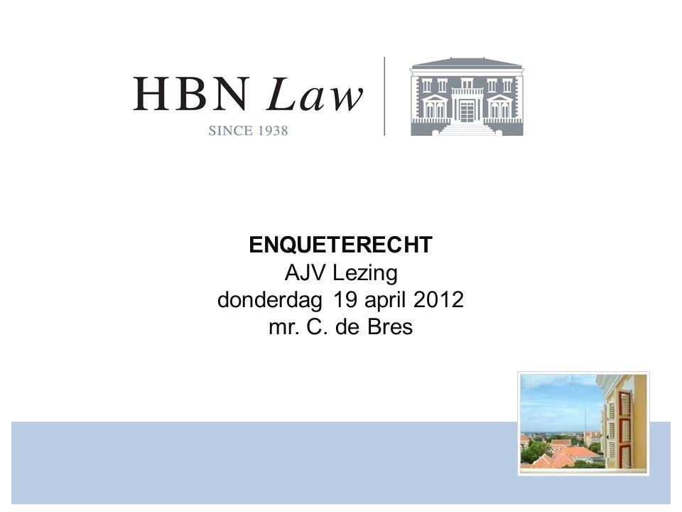 AGENDA www.hbnlaw.com 1.Wat is enquêterecht en waartoe dient het.