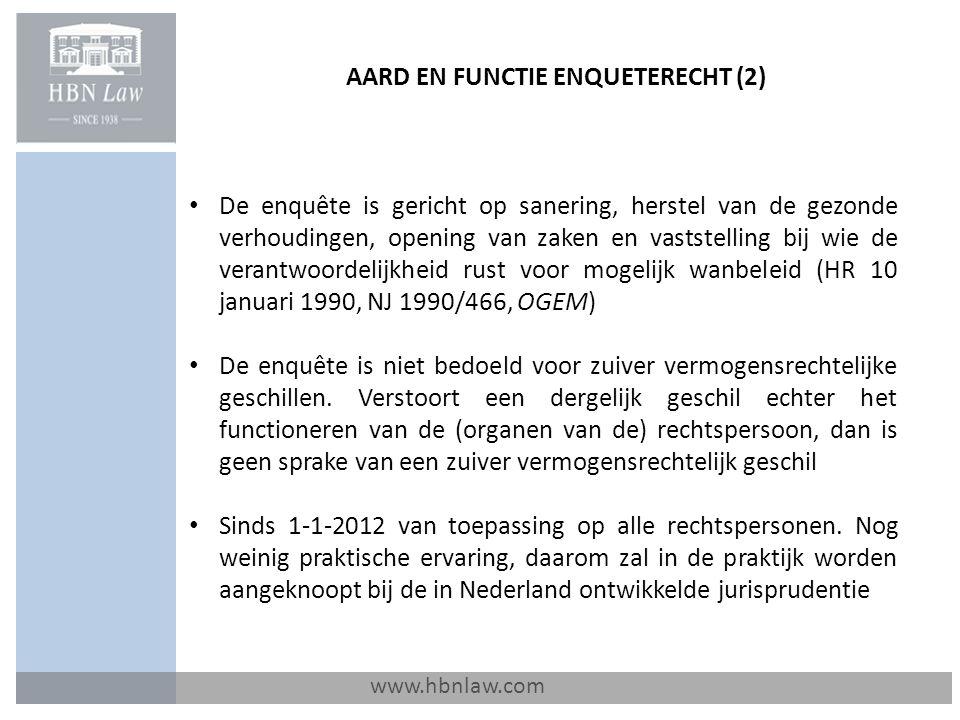 VERLOOP PROCEDURE IN EERSTE FASE / MATERIELE ASPECTEN (4) www.hbnlaw.com Belangenverstrengeling: niet beperkt tot het wettelijke tegenstrijdig belang-begrip (art.