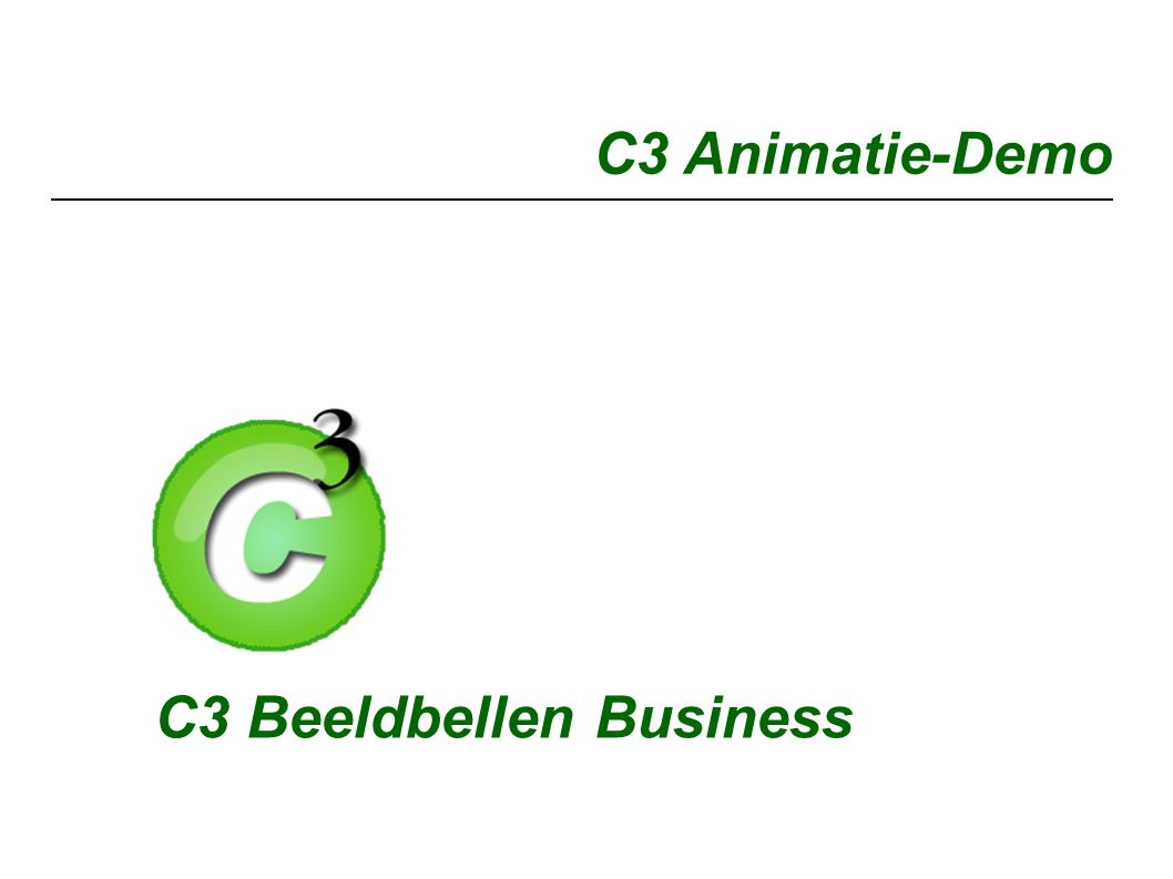 C3 Animatie-Demo C3 Beeldbellen Business