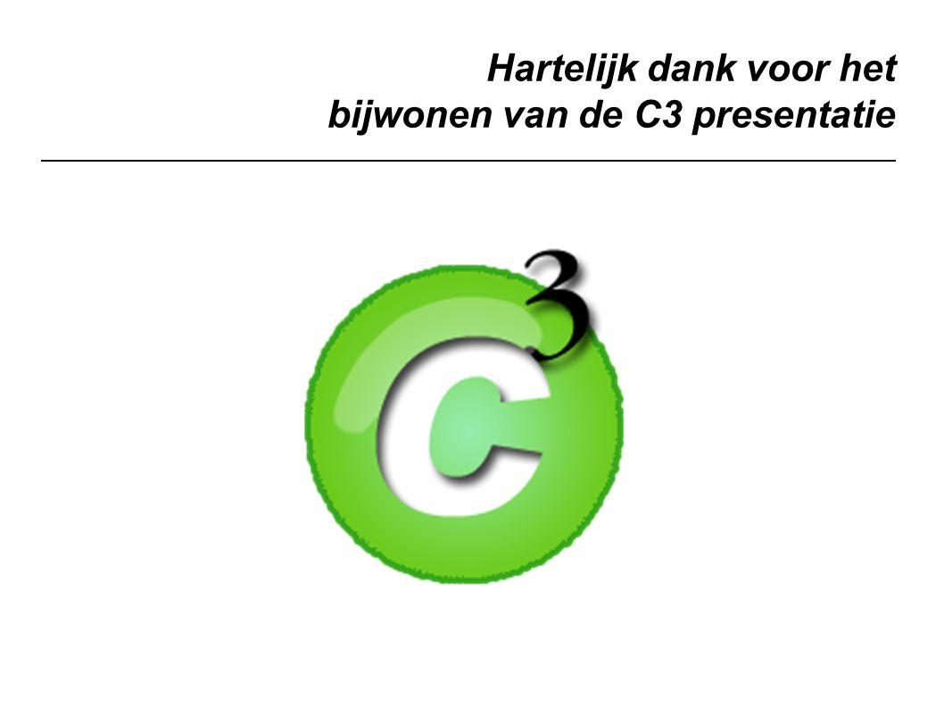 Hartelijk dank voor het bijwonen van de C3 presentatie