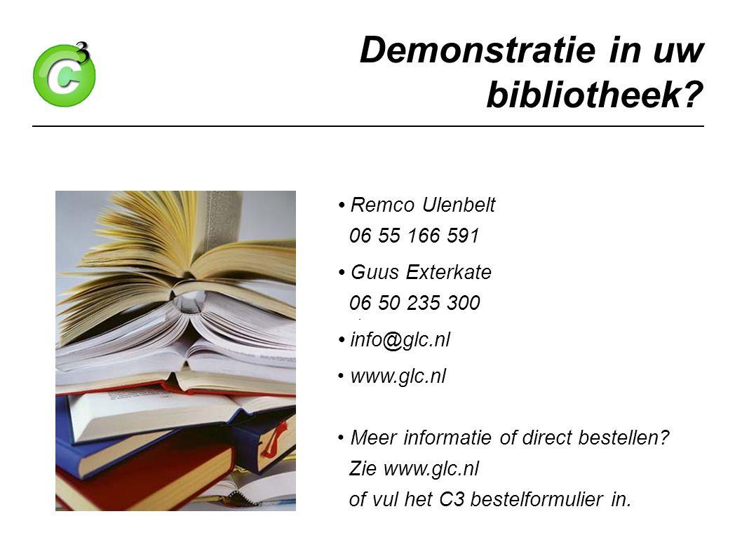 Demonstratie in uw bibliotheek.