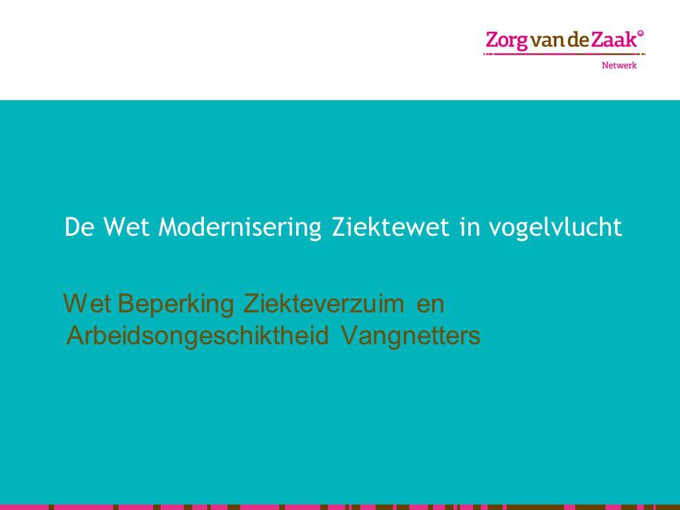 De Wet Modernisering Ziektewet in vogelvlucht Wet Beperking Ziekteverzuim en Arbeidsongeschiktheid Vangnetters