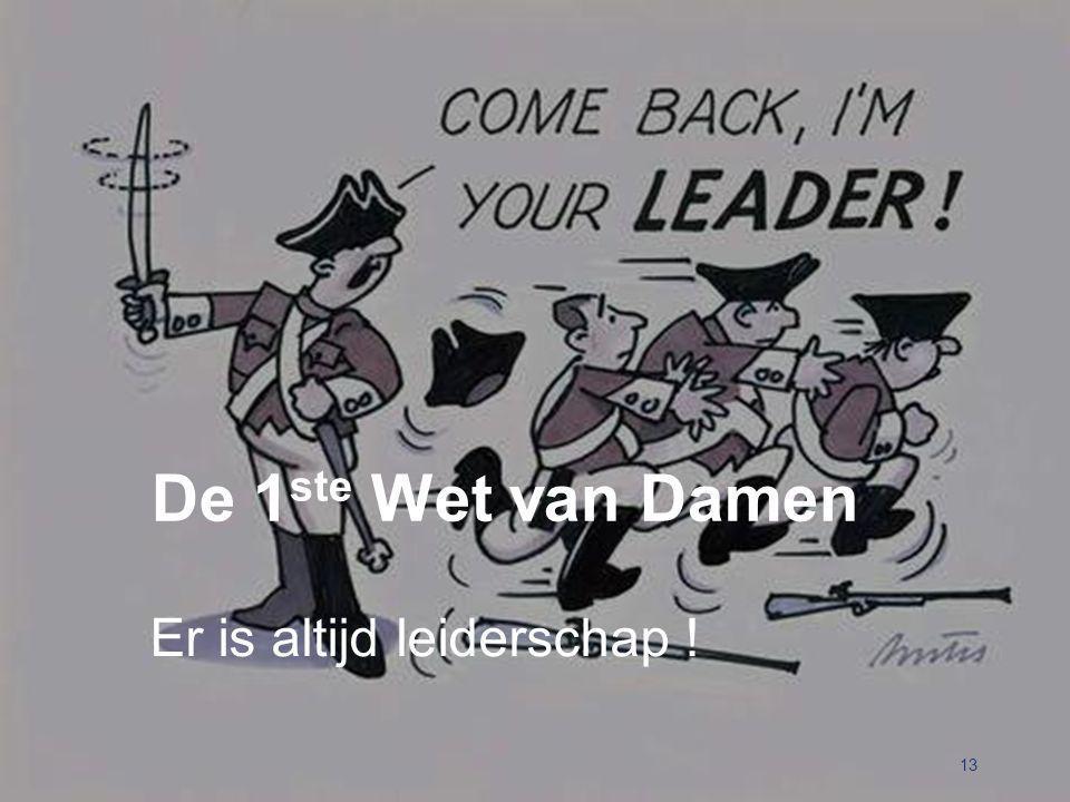 Er is altijd leiderschap ! 13 De 1 ste Wet van Damen
