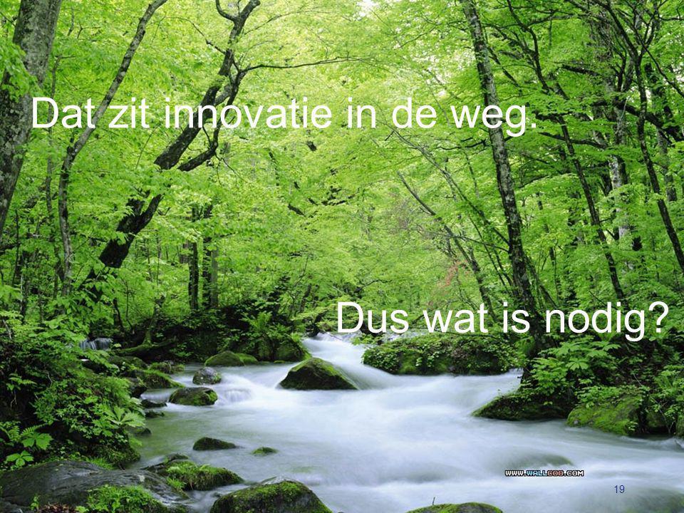 Dat zit innovatie in de weg. 19 Dus wat is nodig?