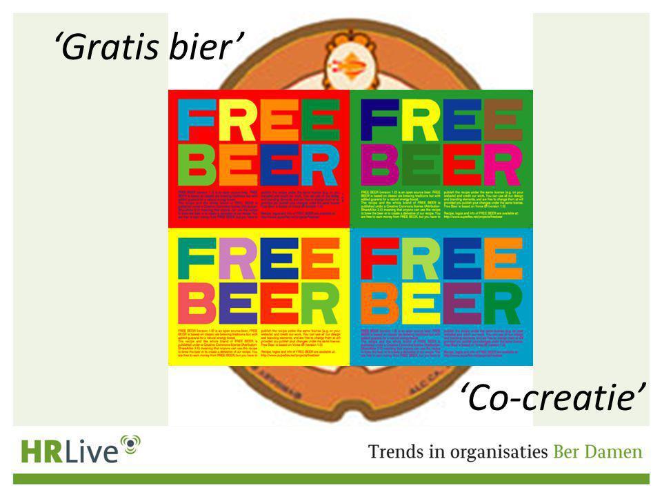 'Gratis bier' 'Co-creatie'