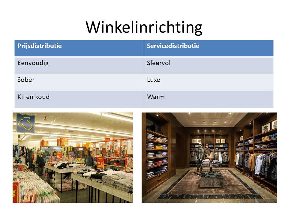 Winkelinrichting PrijsdistributieServicedistributie EenvoudigSfeervol SoberLuxe Kil en koudWarm