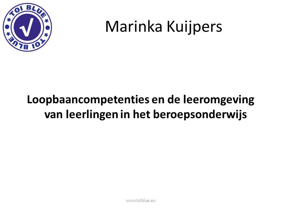 Loopbaancompetenties van Marinka Kuijpers Wie ben ik, wat kan ik.