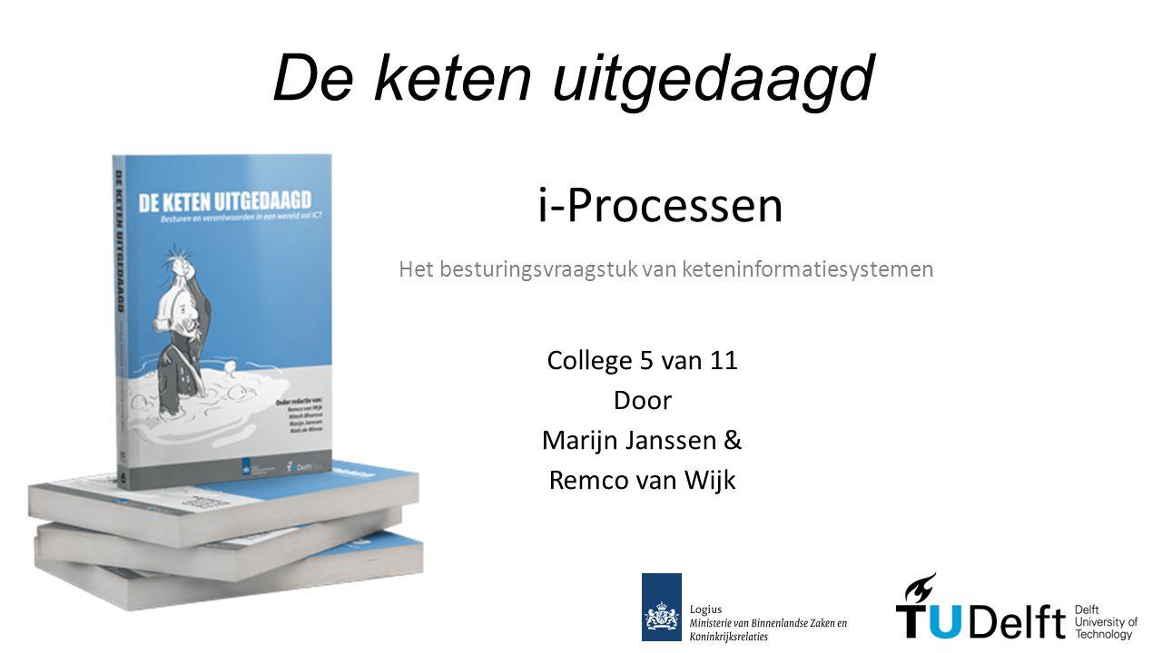 De keten uitgedaagd College 5 van 11 Door Marijn Janssen & Remco van Wijk i-Processen Het besturingsvraagstuk van keteninformatiesystemen
