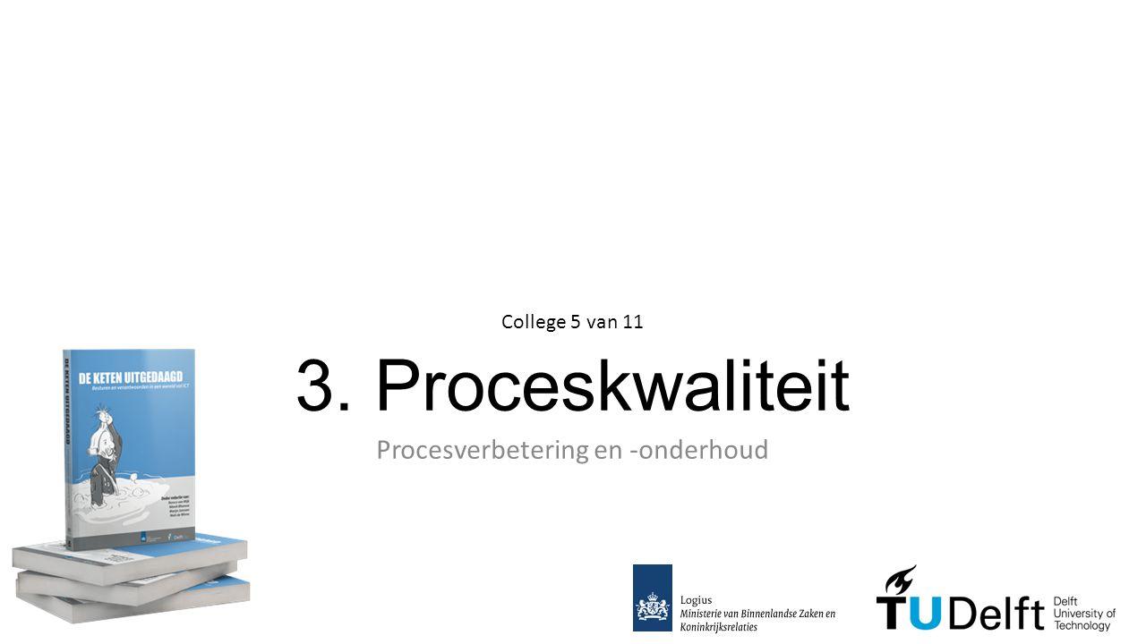 3. Proceskwaliteit Procesverbetering en -onderhoud College 5 van 11